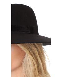 Rag & Bone - Black Zoe Fedora Hat - Lyst