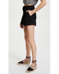 Marc Jacobs Black Pleated High Waist Shorts