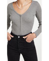 Rag & Bone Gray Laila Zip Pullover
