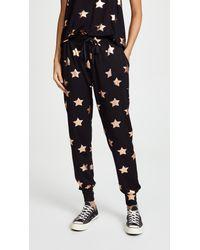 Terez Black Star Foil Joggers