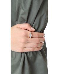 Adina Reyter - Metallic Stretched Diamond Signet Ring - Lyst