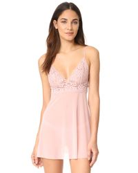Hanky Panky - Pink Sophia Lace Babydoll With G-string - Lyst