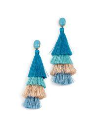 Deepa Gurnani - Blue Jasmine Deepa By Earrings - Lyst