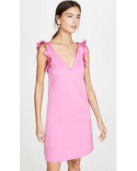N°21 Pink Shoulder Detail V Neck Mini Dress