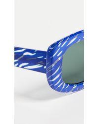 Le Specs Blue X Double Rainbouu Five Star Sunglasses