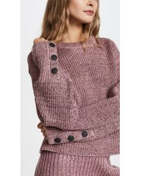 Rag & Bone Pink Jubilee Crew Neck Sweater