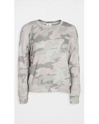 Sundry Gray Camo Cozy Sweatshirt