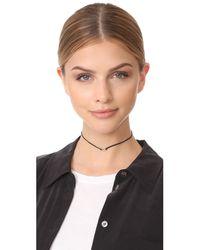 Adina Reyter - Metallic Pave Oval Choker Necklace - Lyst