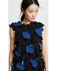 Paskal Blue Laser Cut Asymmetric Appliqued Dress