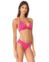 Kate Spade Pink Scalloped Triangle Bikini Top