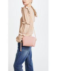 Sarah White Pink Convertible Top Zip Cross Body Bag