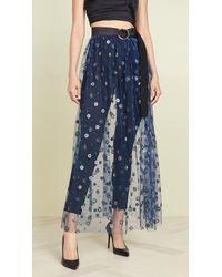 Rachel Comey Blue Fetes Belt Skirt