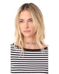 Rebecca Minkoff | Metallic Navette Metal Choker Necklace | Lyst
