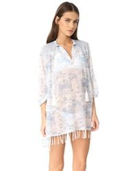Roberta Roller Rabbit - White Serafina Tunic With Fringes - Lyst