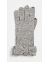 Kate Spade - Gray Half Bow Gloves - Lyst