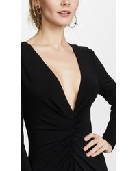 Halston Heritage Black Ruched Gown