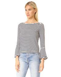 Splendid - White French Stripe Bell Sleeve Top - Lyst