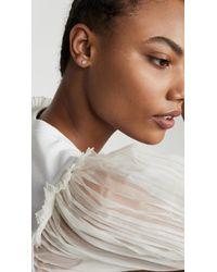 Adina Reyter Metallic Solid Pave Disc Earrings