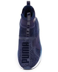 PUMA Blue Fierce Strap Flocking Sneakers
