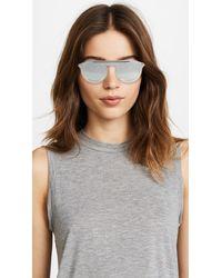 Dolce & Gabbana Metallic Flat Top Sunglasses