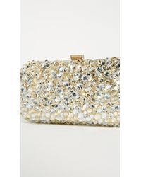 Santi Natural Gold And Silver Jeweled Clutch