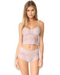 Only Hearts - Pink So Fine Lace Cheeky Briefs - Lyst