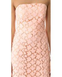 Shoshanna Pink Franklin Midi Dress