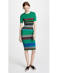 Diane von Furstenberg Green Soft Shoulder Sweater Dress