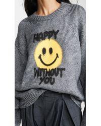 Philosophy Di Lorenzo Serafini Gray Happy Without You Sweater