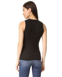 Getting Back to Square One - Black Ribbed Muscle Tee - Lyst