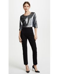 Loyd/Ford Gray Sequin Crop Top
