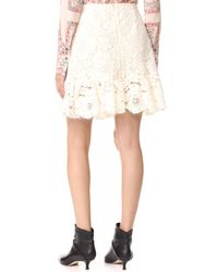 Philosophy Di Lorenzo Serafini - White Mini Lace Skirt - Lyst