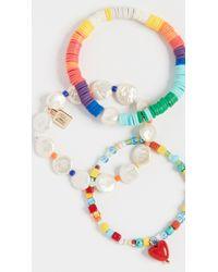 DANNIJO Blue Alana Bracelet Set
