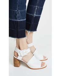 Stuart Weitzman White Savvy Sandals