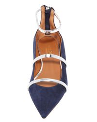Malone Souliers Blue Robyn Flats