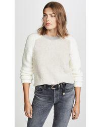 Rag & Bone White Davis Crew Sweater