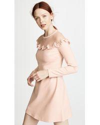 RED Valentino Multicolor Bib Neck Dress