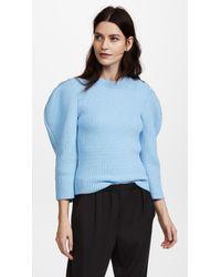 Nina Ricci - Blue Shoulder Detail Sweater - Lyst