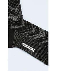 Missoni - Black Chevron Ankle Socks - Lyst