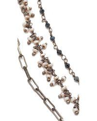 Ela Rae | Multicolor Three Layer Lariat Necklace | Lyst
