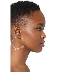 Jacquie Aiche - Metallic Shaker Hoop Earrings - Lyst