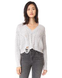 Wildfox Gray Nancy Sweater