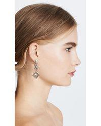 Kate Spade - Metallic Snowy Nights Linear Statement Earrings - Lyst