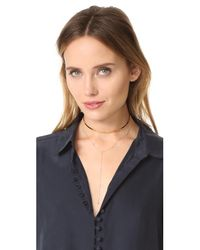 Jacquie Aiche - Metallic 10 Diamond Y Necklace - Lyst