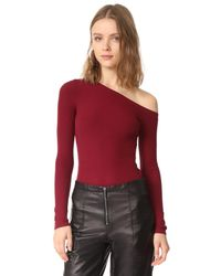 Getting Back to Square One - Red One Shoulder Pullover - Lyst