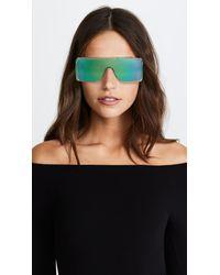 Marc Jacobs Green Flat Top Sunglasses