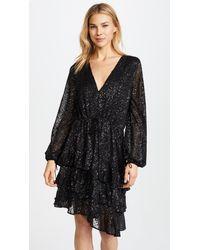 Talulah Black Emergence Flare Mini Dress