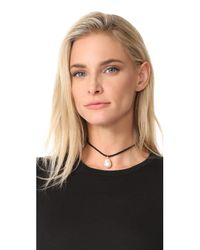 Lizzie Fortunato - Black Best Friend Necklace - Lyst
