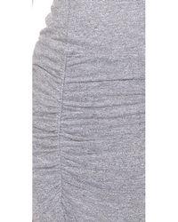 Monrow Gray Sleeveless Shirred Dress