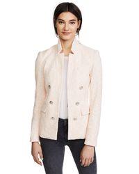 Veronica Beard Pink Barton Jacket